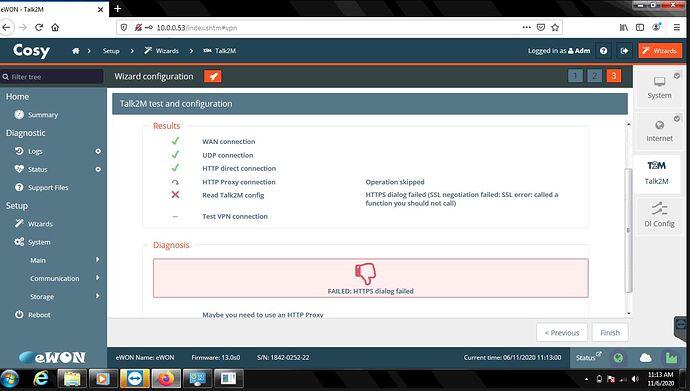 error Talk2M