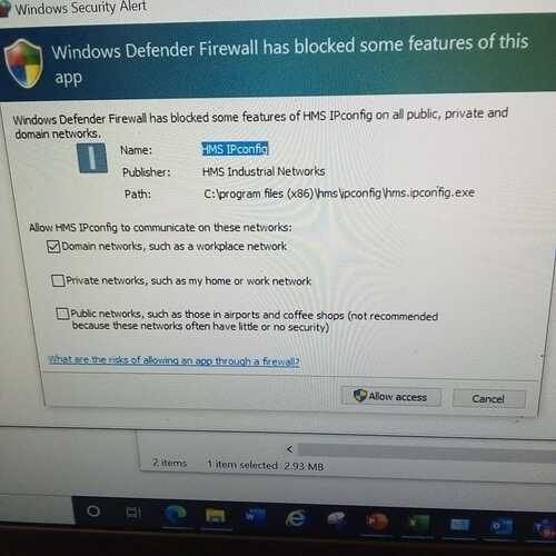 IPCONFIG Instal Alert
