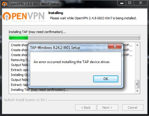 OpenVPNerror