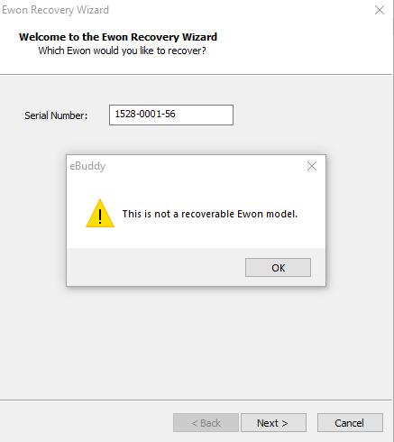 Recovery Error