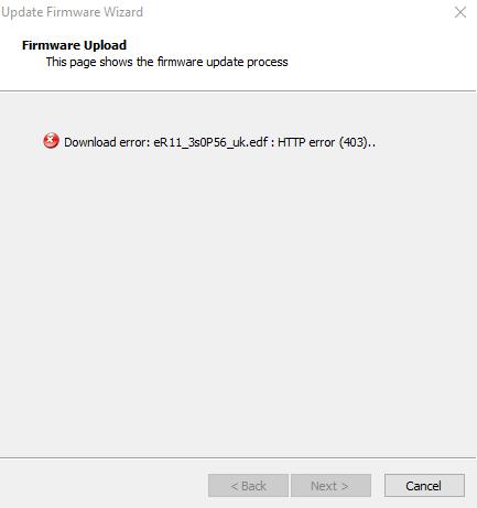 firmware error 4